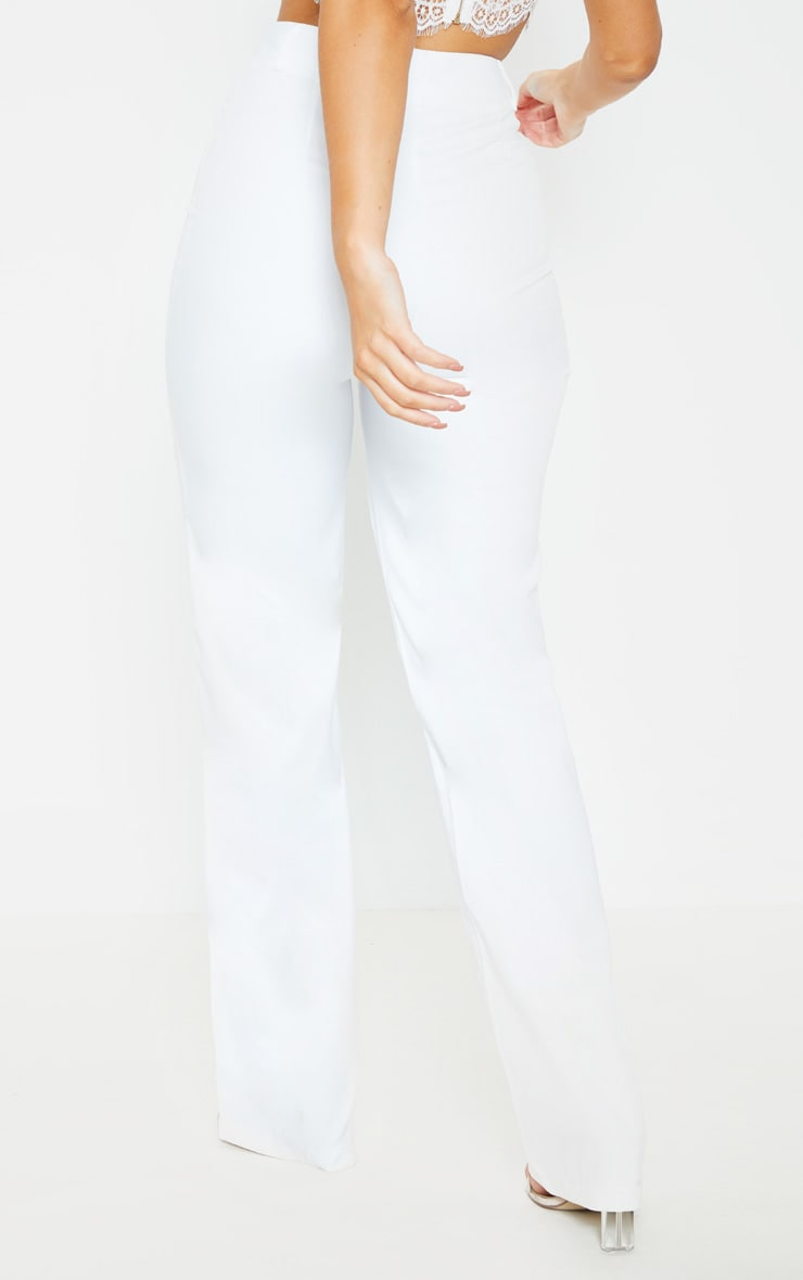 Anala Cream High Waisted Straight Leg Trousers 4