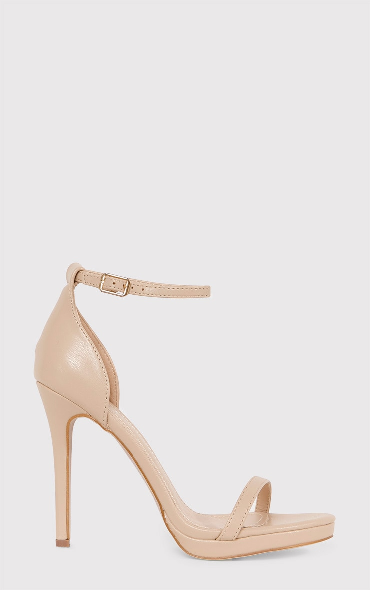 Enna Nude Single Strap Heeled Sandals 2