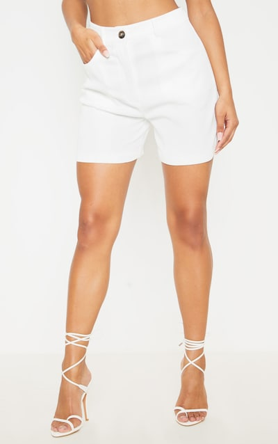 Cream Cord High Waisted Oversized Shorts