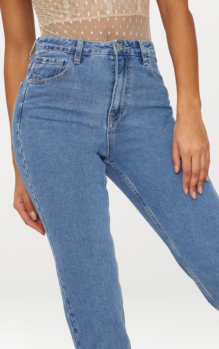 Straight Leg Mid Wash Jean 5