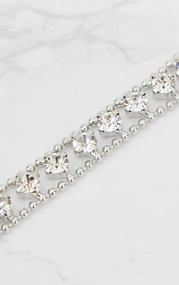 Silver Chain Diamante Choker 2
