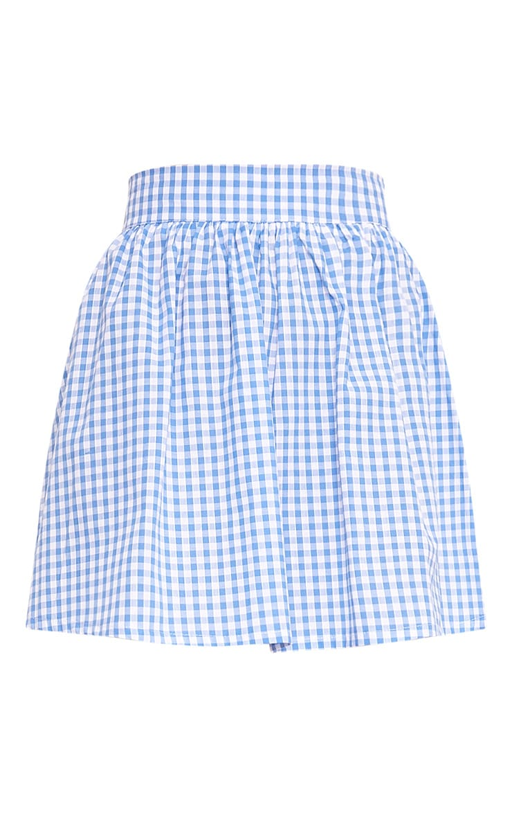 Rosae Blue Gingham Floaty Mini Skirt  3