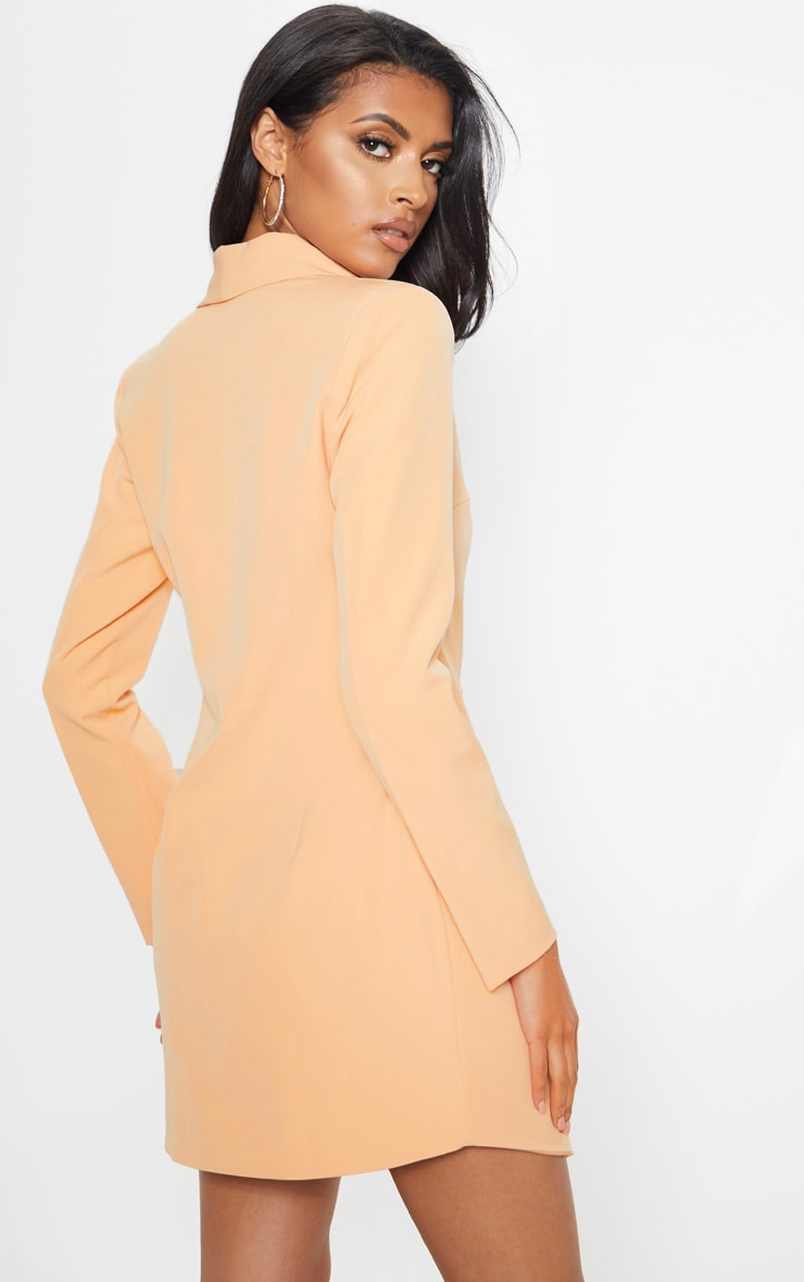 Nude Gold Button Blazer Dress 2