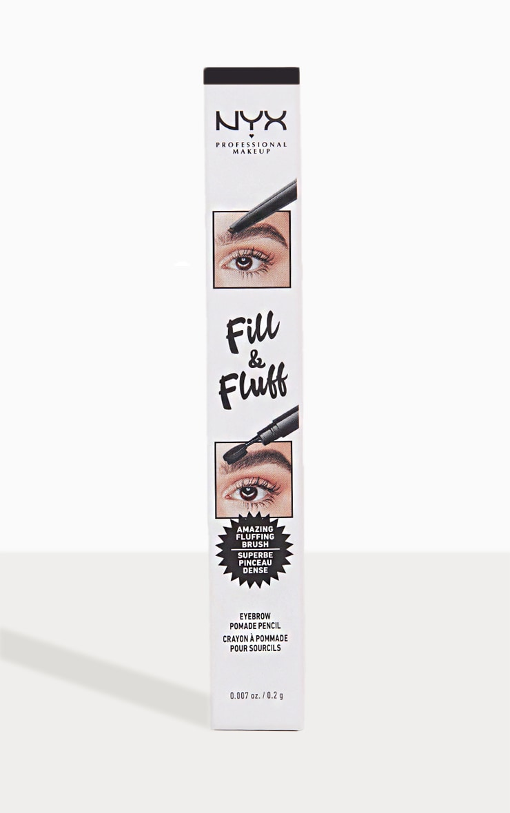 NYX Professional Makeup Fill & Fluff Eyebrow Promade Pencil Black 1