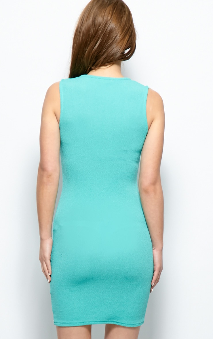 Brooke Green Plunge V Neck Bodycon Dress 2