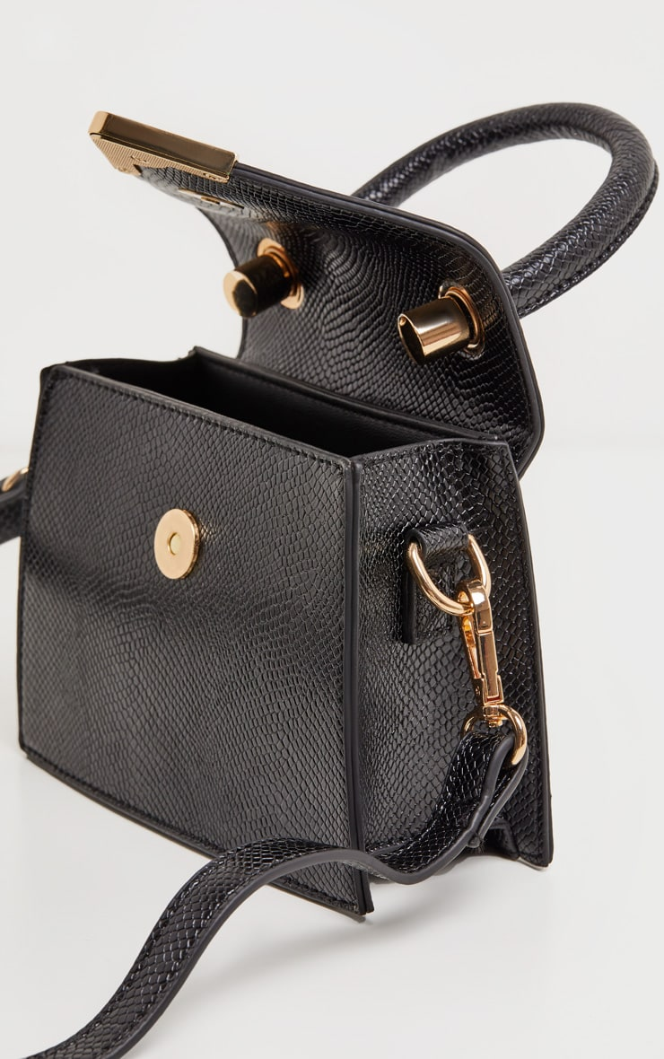 Black PU Envelope Mini Bag 4