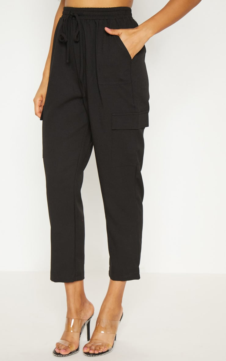 Black Diya Cargo Pocket Casual Trouser 2