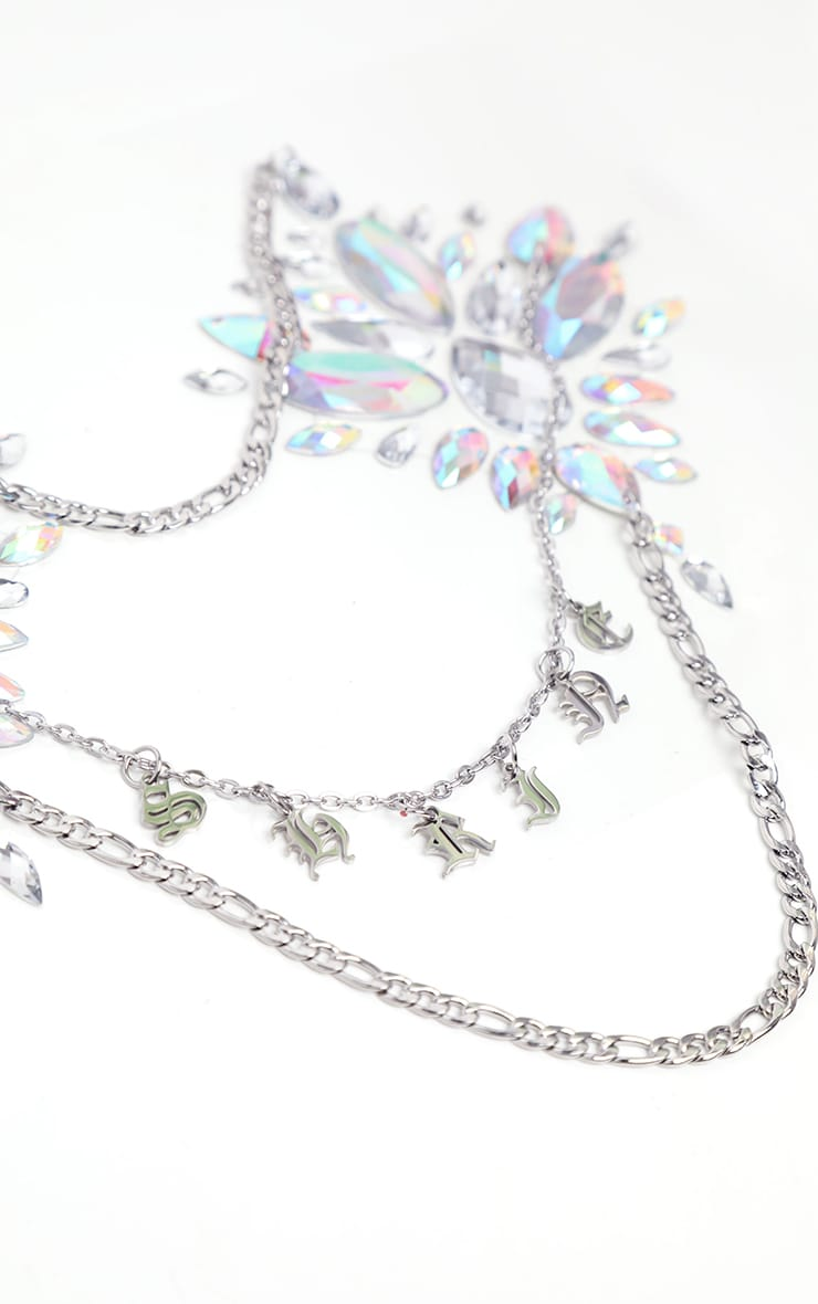 The Gypsy Shrine Drippin Silver Boob Jewel With Body Chains 3