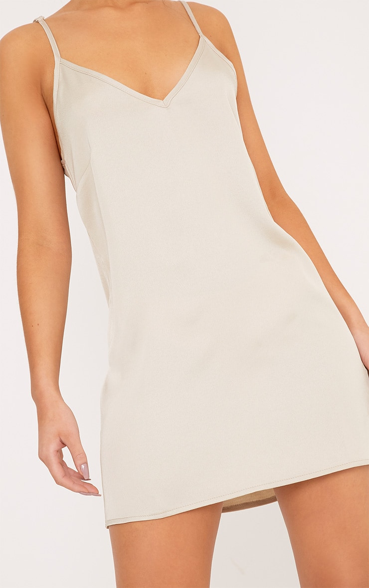 Ameera Champagne Satin Slip Dress 5
