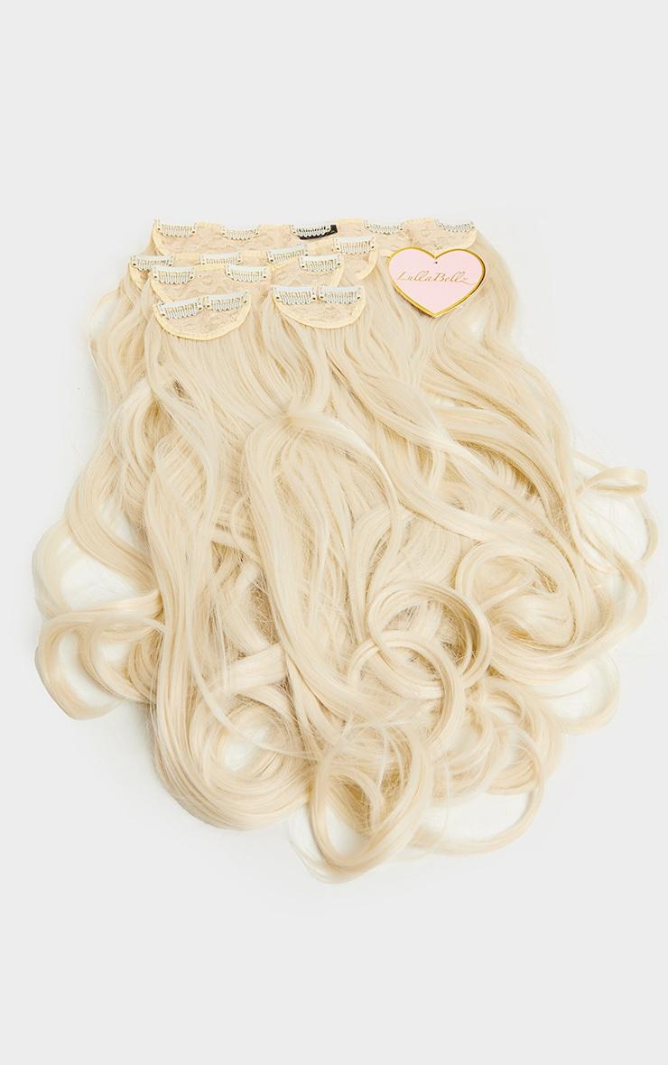 LullaBellz 22 5 Piece Blow Dry Clip In Hair Extension Bleach Blonde 5