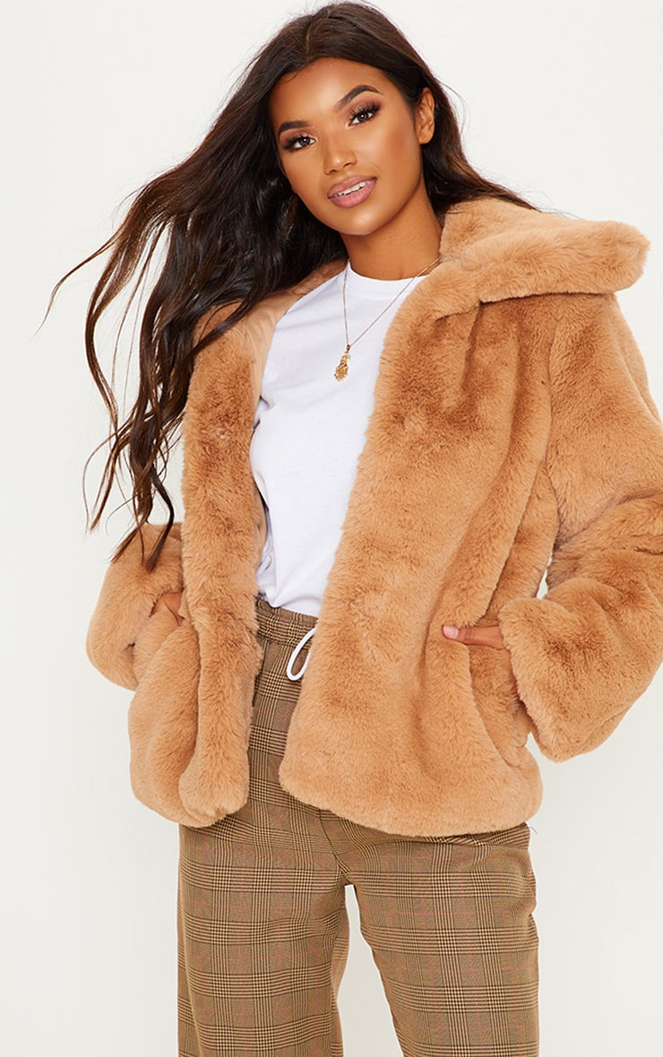 BEIGE FUR JACKET  1