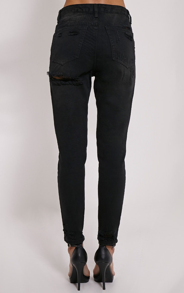 Davina Black Distressed Jean 4