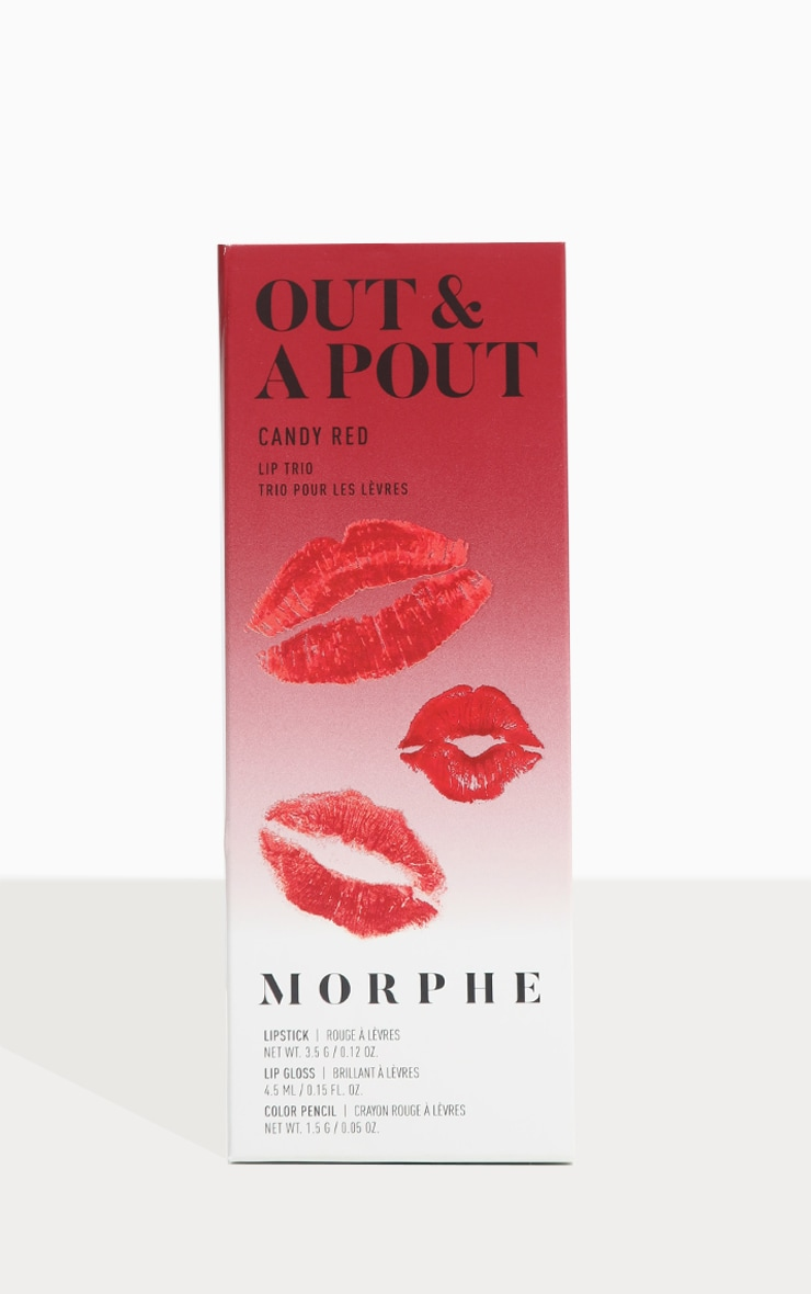 Morphe Out & A Pout Red Trio Candy Red 5