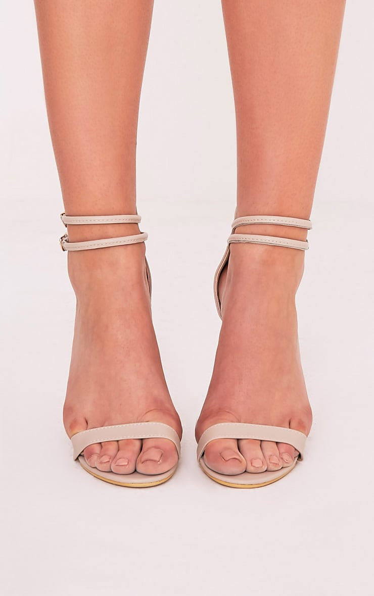 Karrie Nude Double Ankle Strap Heels 3
