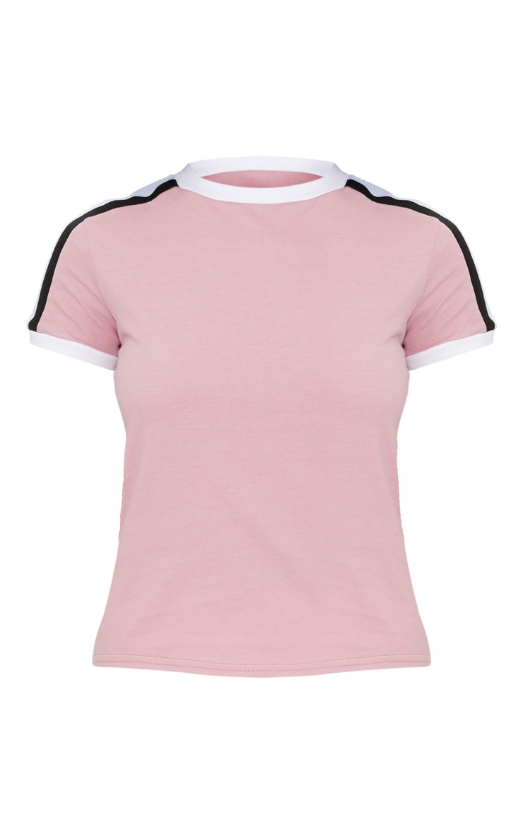 Rose Triple Stripe Shoulder T Shirt  3