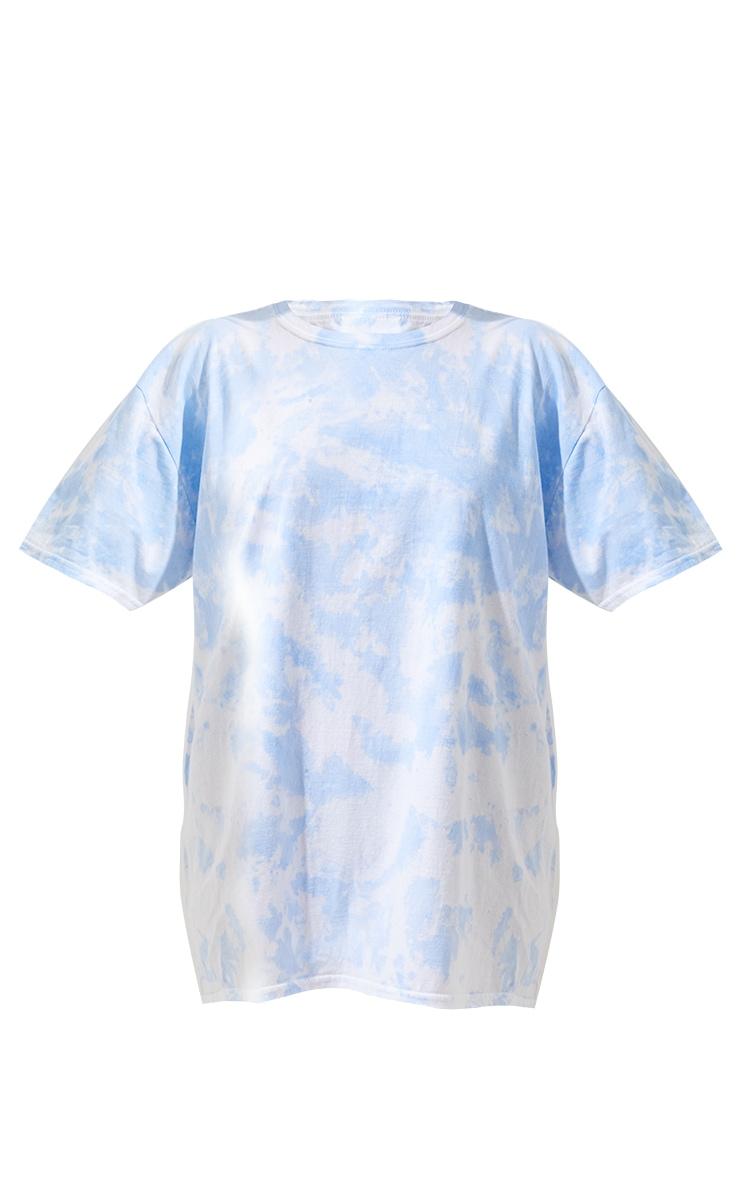 Light Blue Tie Dye Washed T Shirt 3