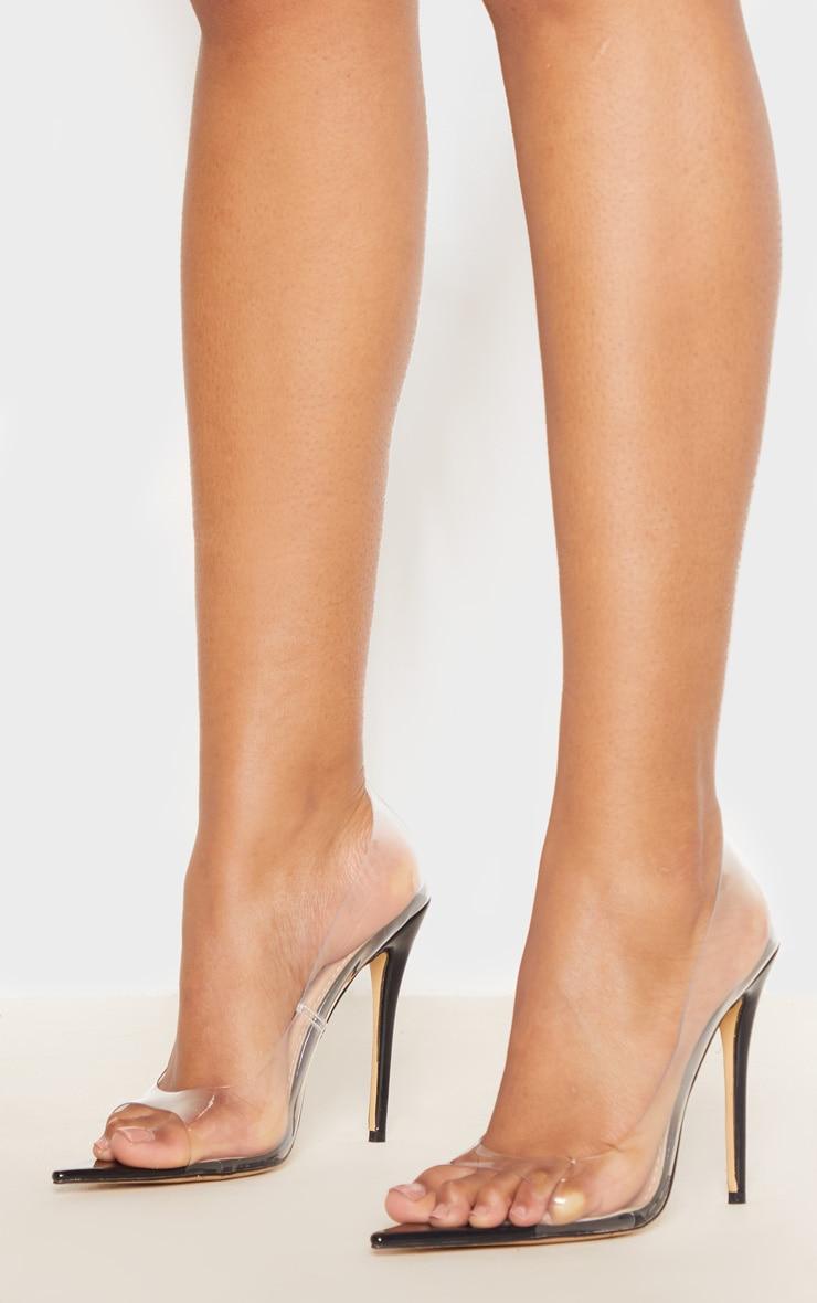 Clear Open Toe Point Court Shoe 1
