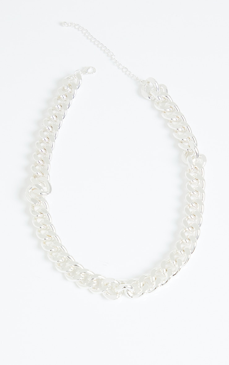 Silver Chunky Medium Chain Necklace 3