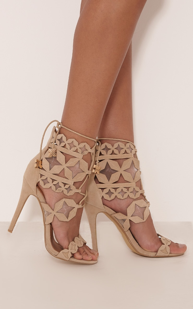 Esmee Stone Lace Up Star Strap Heels 2