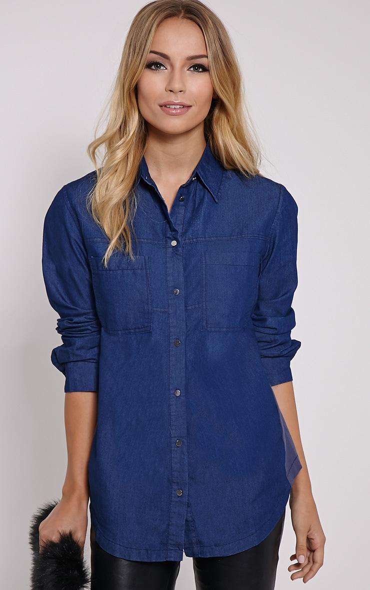 Aria Blue Denim Shirt 4