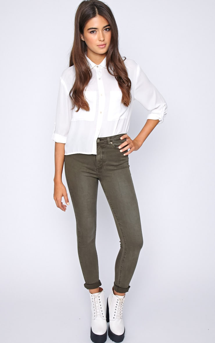 Avis Khaki Super Skinny Jean -M 1