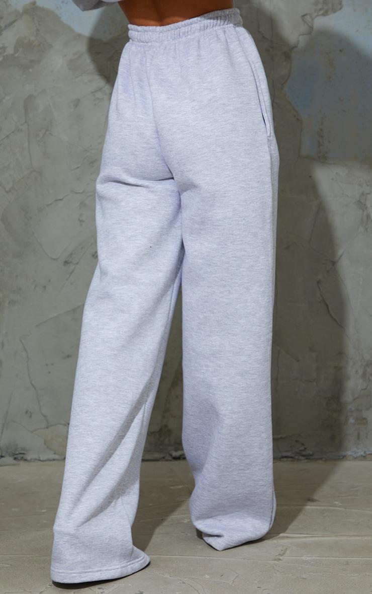 Grey Marl Wide Leg Joggers 3