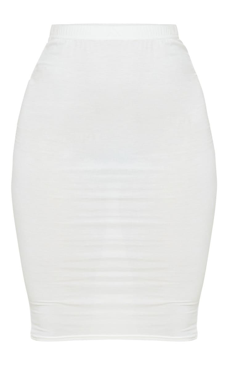 Cream Basic Midi Skirt 5