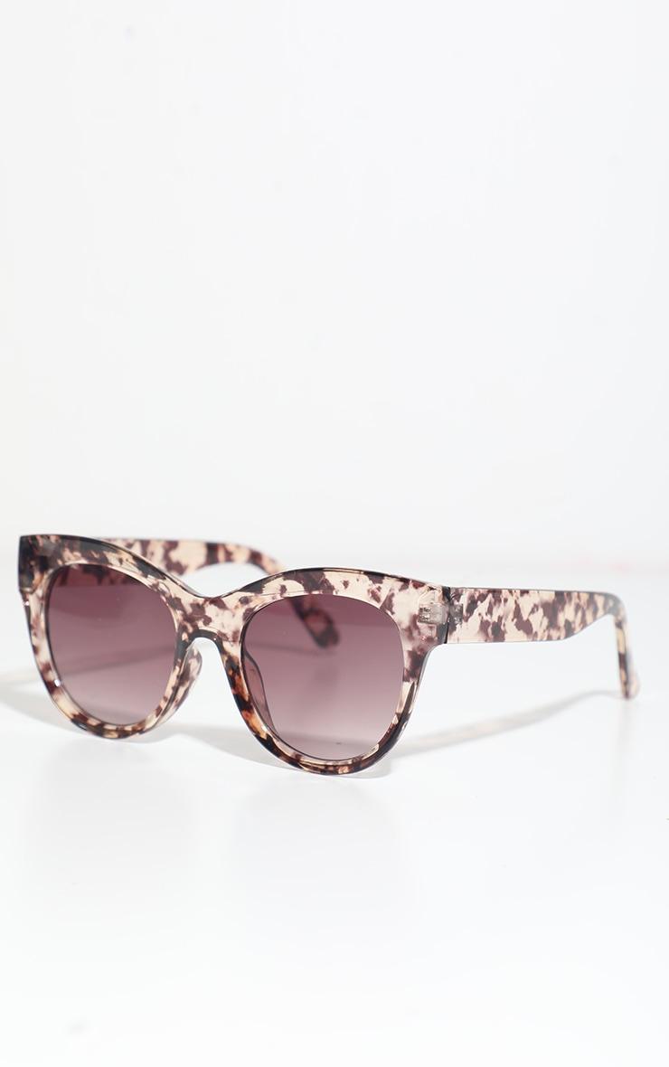 Dark Tortoise Clear Cat Eye Sunglasses 1