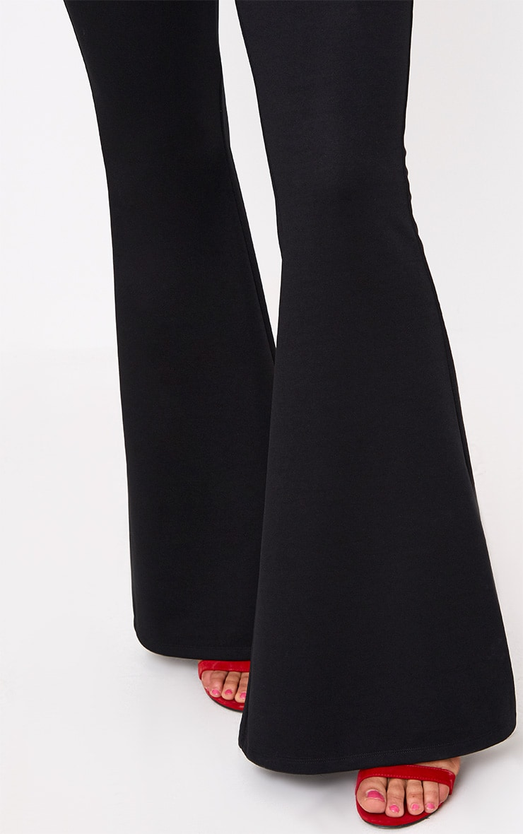 Black Fitted Wide Leg Trousers 5