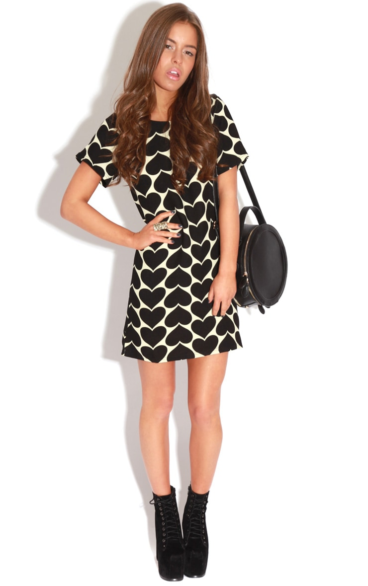 Maria Black & Cream Love Heart Dress 3