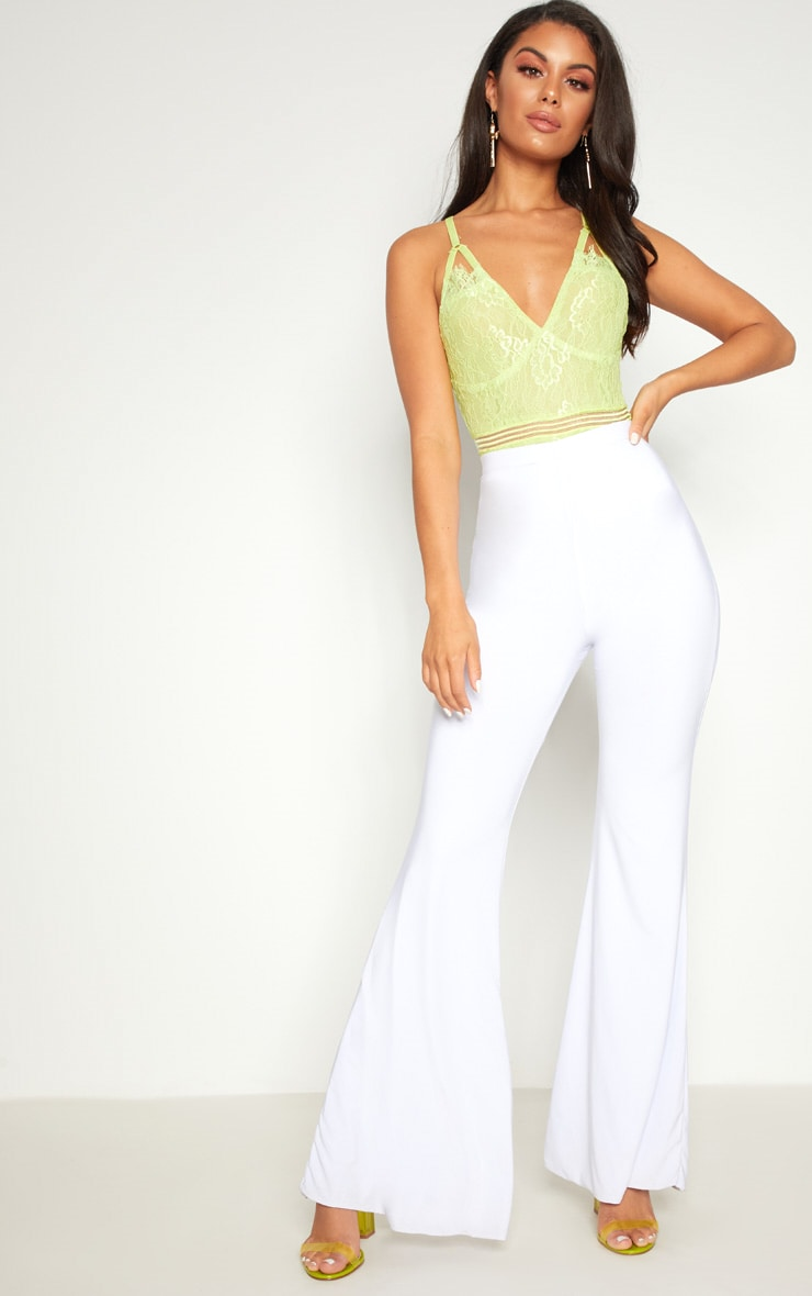 Lime Cut Out Detail Lace Thong Bodysuit 5