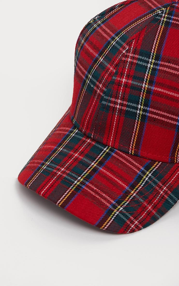 Red Tartan Cap 3