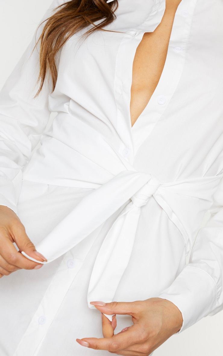 Tall White Wrap Detail Shirt Dress 4
