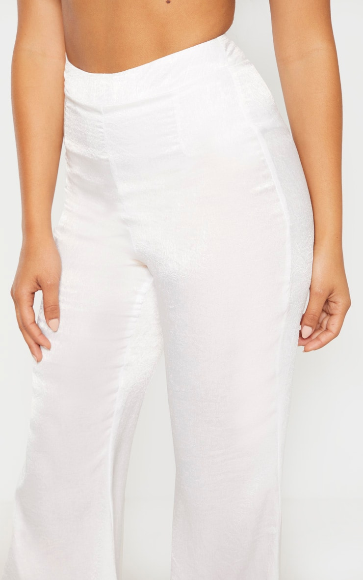 Petite White Tailored Extreme Flared Pants 5
