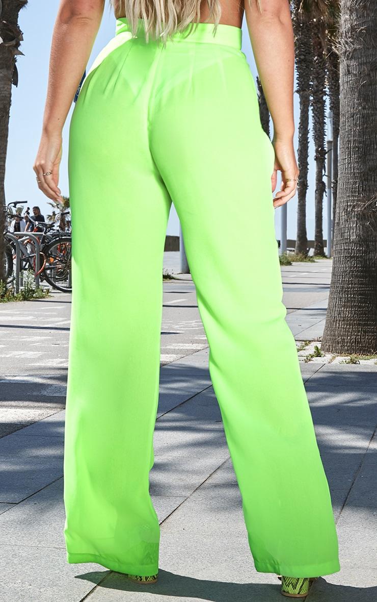 Neon Green Beach Flares 4