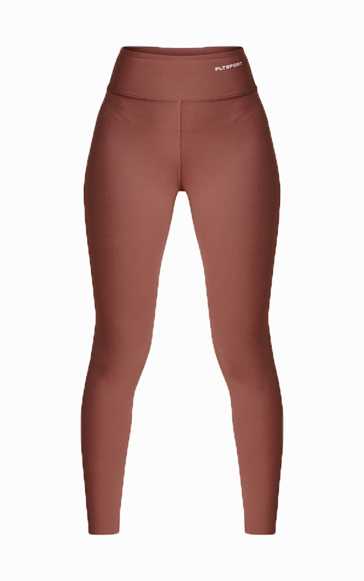 PRETTYLITTLETHING Toffee Sculpt Luxe Gym Leggings 5