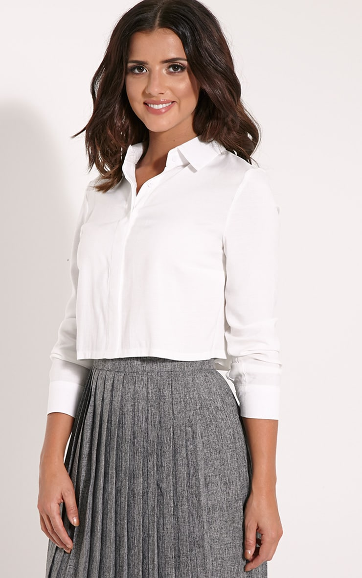 Kellie White Crop Shirt 3