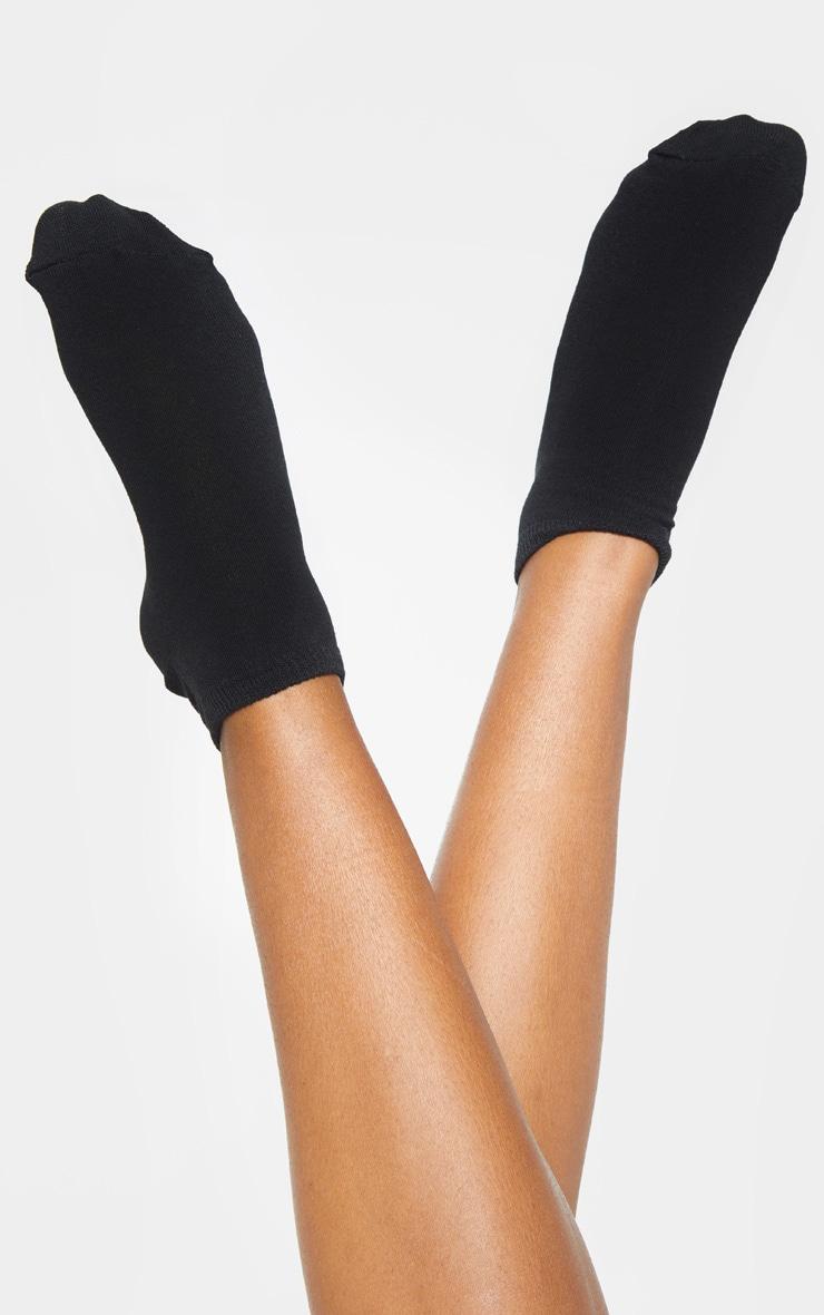 Black Two Pack Trainer Socks 1