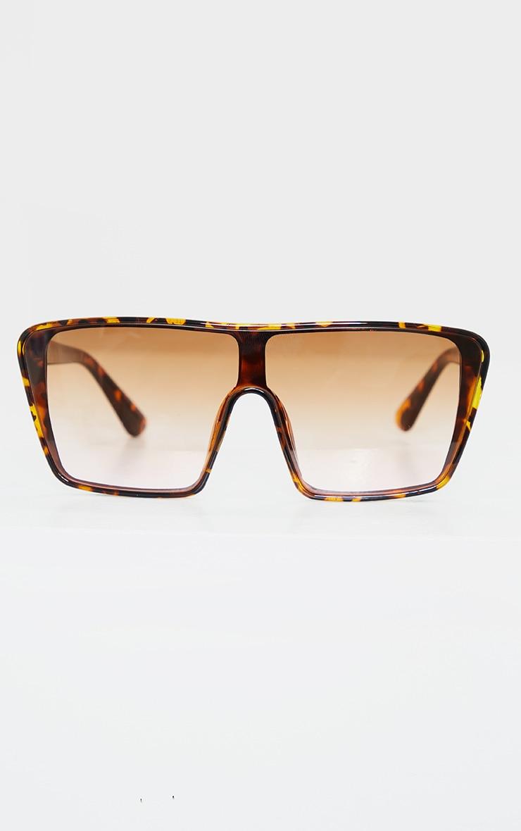 Tortoise Square Frame Oversized Sunglasses 1