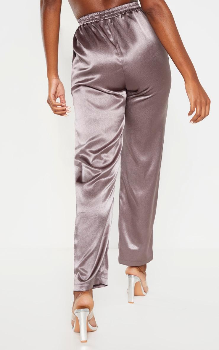 Charcoal Satin Trouser  4