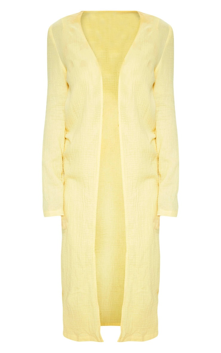 Petite Lemon Woven Longline Duster Jacket 3