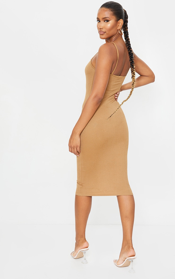 Chestnut Strappy Midi Dress 2