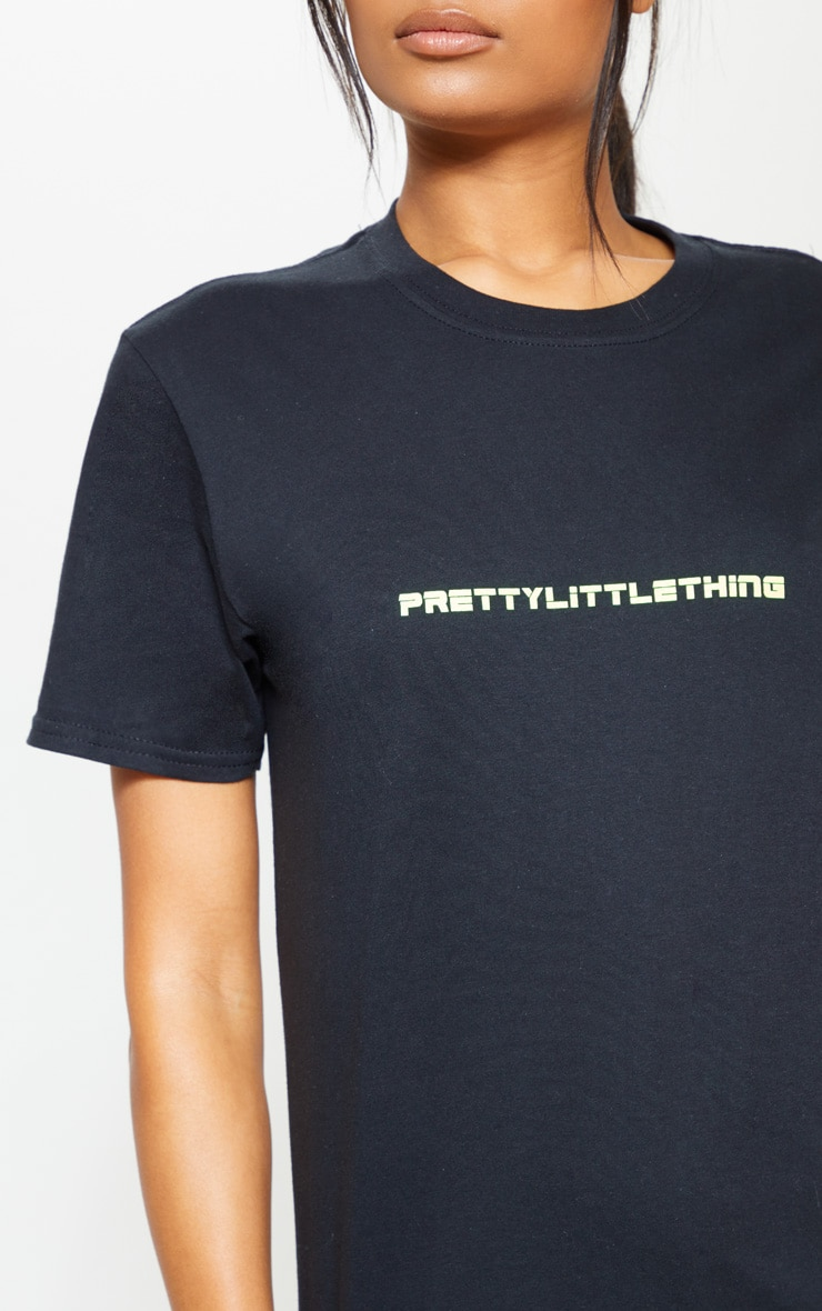 PRETTYLITTLETHING Black Gym T-Shirt 4