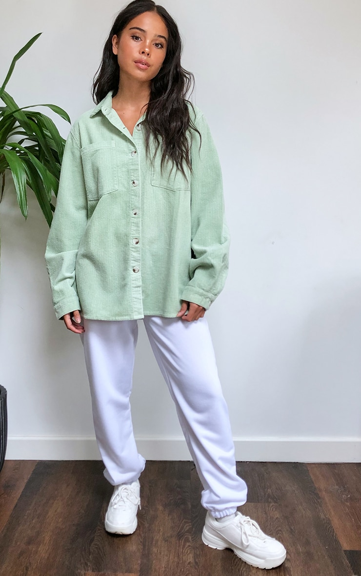 Mint Jumbo Cord Long Sleeve Denim Shirt 3