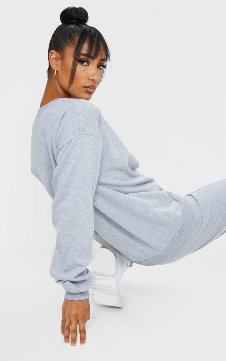 PRETTYLITTLETHING Grey Circle Logo Sweatshirt 2