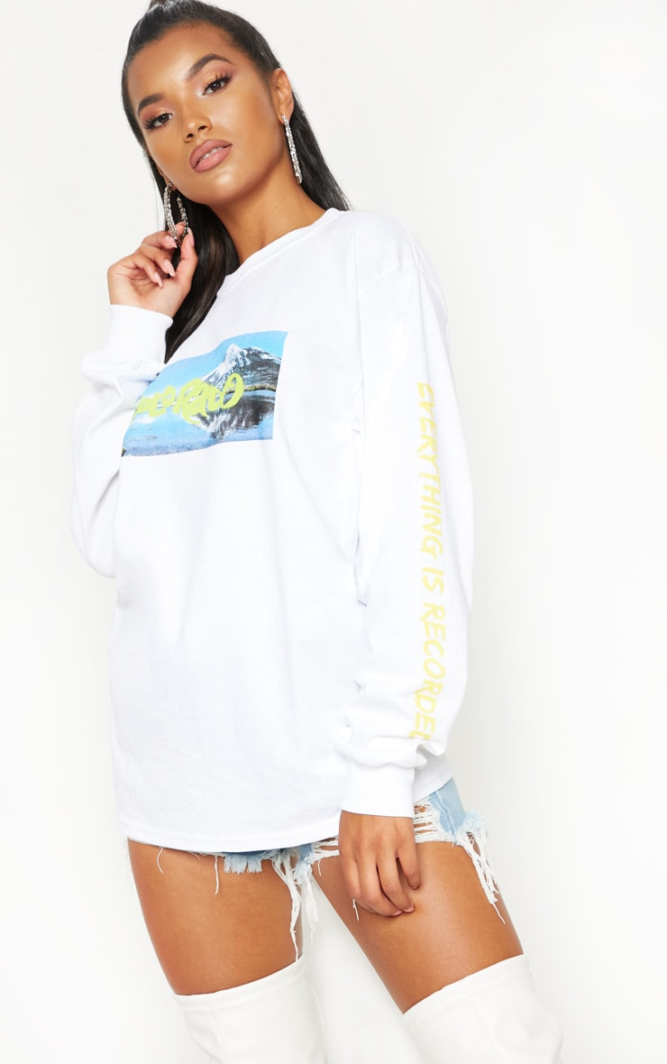 White Colorado Slogan Long Sleeve Top 1