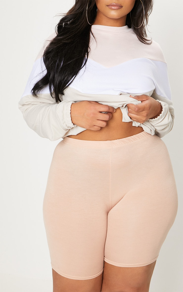 PLT Plus - Short-legging basique nude 6