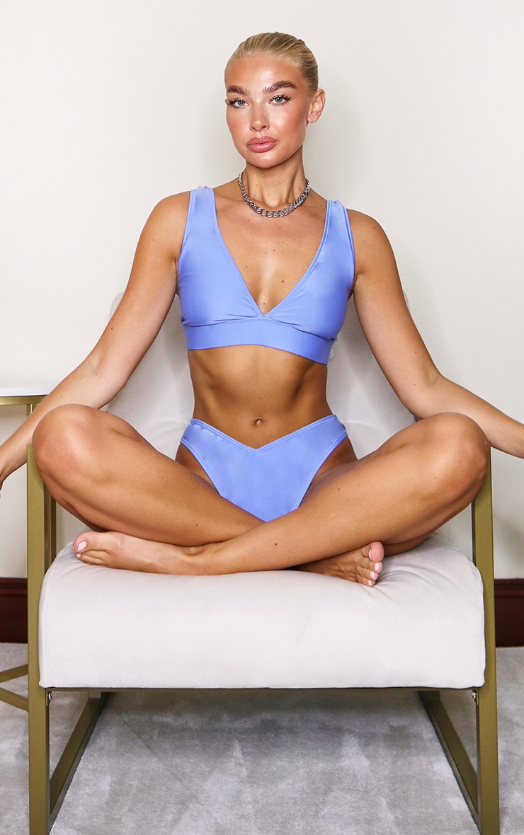 Cornflower Blue Mix & Match V Front Bikini Bottoms 3