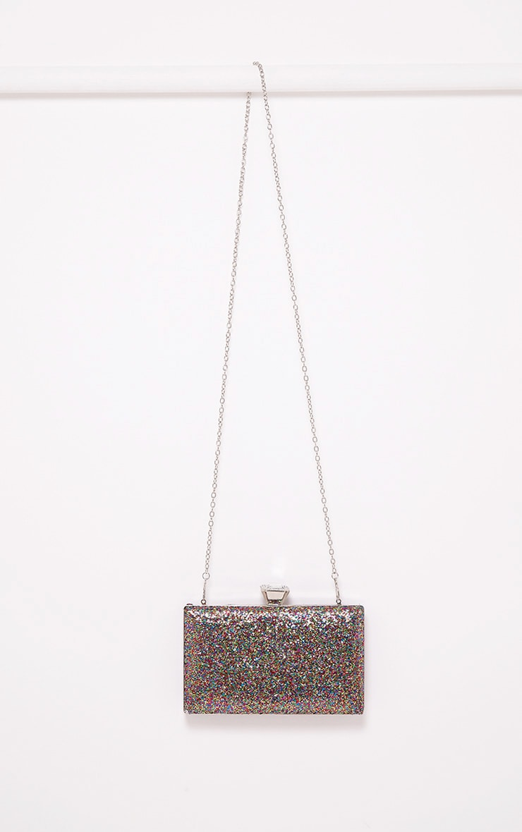 Dinnie Multi Glitter Box Clutch Bag 2