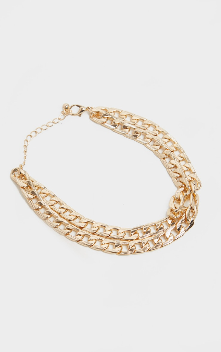 Gold Double Chain Anklet 2